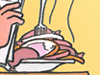 Karikatur der Woche 07: Pferdefleisch in Tiefkühlprodukten