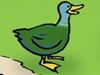 Ente Oma See Park Teich Brot füttern Cartoon Anatidaephobie Tiere Natur Vögel Enten Bank Wasser