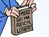 Friedrich Merz Reichtum BlackRock Politiker Wirtschaft Drehtüreffekt Buch Obdachlose Schere arm reich Verhältnismäßigkeit Arroganz gehobener Mittelstand