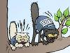 Polizeikatzen Police Cats Polizeihunde Polizei Tiere Einsatz Cartoon Hund und Katze Katzen